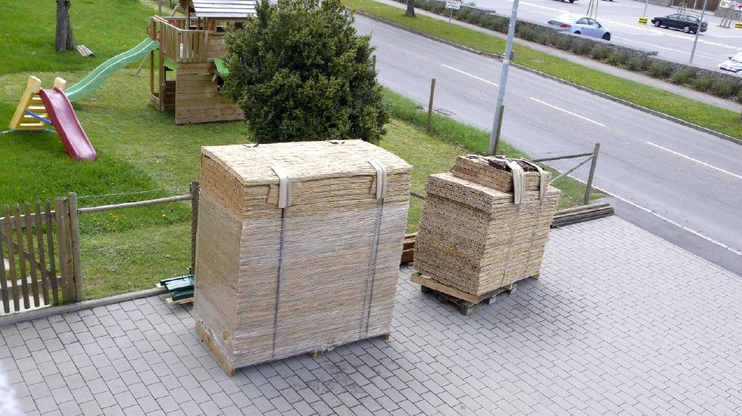Das Arbeitsmaterial: Hiss Reet Platten